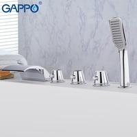 GAPPO ванной кран Водопад ванна смеситель ванная комната бортике кран краны Робине banheira кран