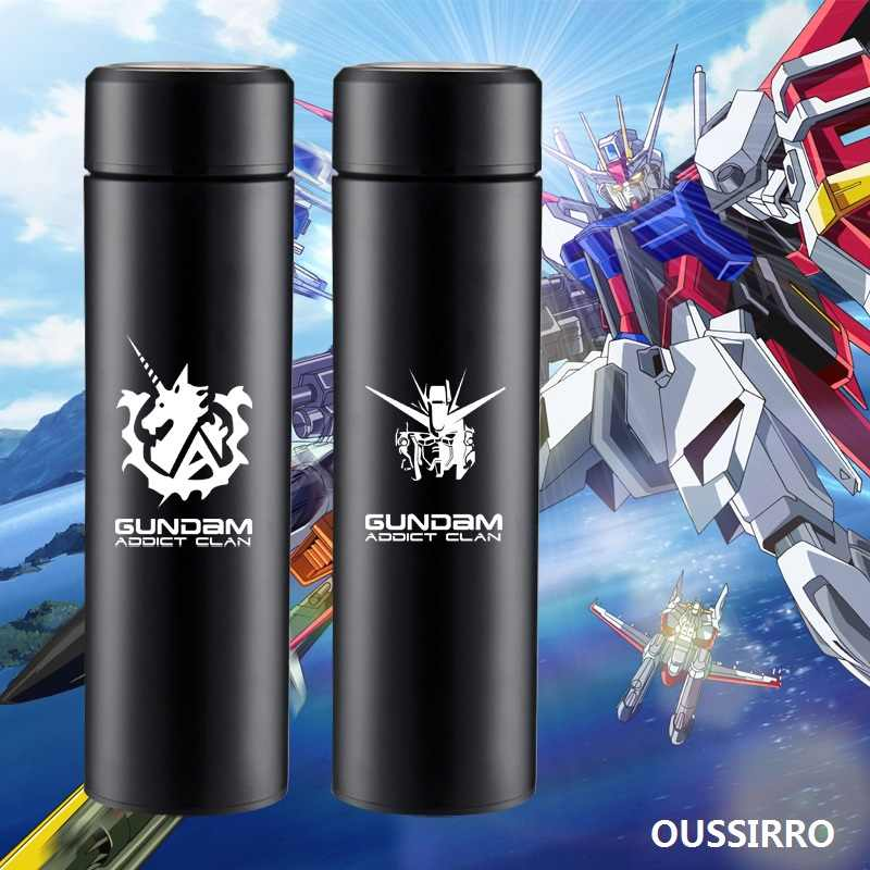 Oussiro Ready Player One creativo GUNDAM RX-78 Robot de transformación 430 ml PC + termo de acero inoxidable taza de agua de oficina
