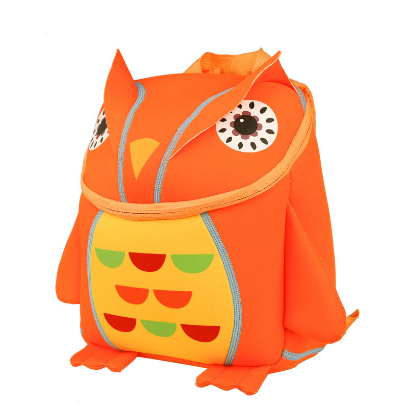 BOSEVEV 3D Animal Children Backpacks Girl Boys Baby Backpack Toddler Kids Neoprene School Bags Cute Kindergarten Cartoon Bag
