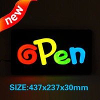 New Electronic Signs Waterproof LED Open Sign Led Epoxy Resin Sign On Off Switch Bright Light