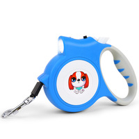 5m Automatic Retractable Dog Leash Lead With LED Light Chihuahua Small Dog Cat Pet Puppy Walking