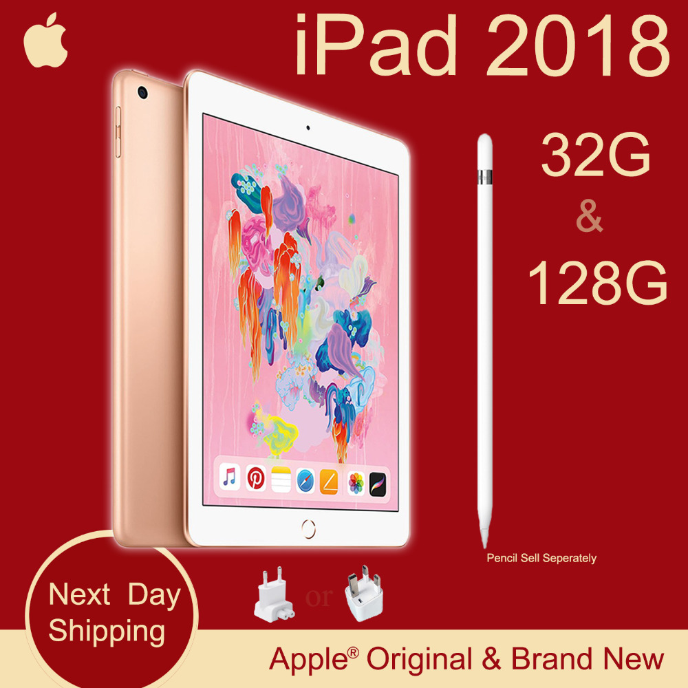 New Apple iPad 2018 (6th Generation) 32G 9.7 Retina Display A10 Fusion Chip Facetime 8MP Rear Camera 0.46kg Super Portable