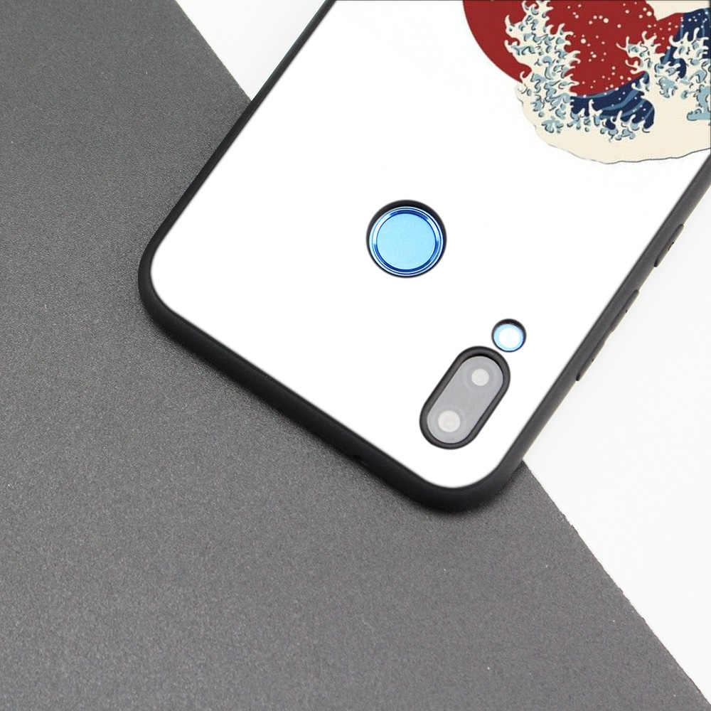 Silicone Case Cover for Huawei P20 P10 P9 P8 Lite Pro 2017 P Smart+ 2019 Nova 3i 3E Phone Cases Wave Art Japanese Green Illust