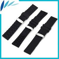 Silicone Rubber Watch Band 20mm 22mm 24mm For MK Hidden Clasp Strap Wrist Loop Belt Bracelet