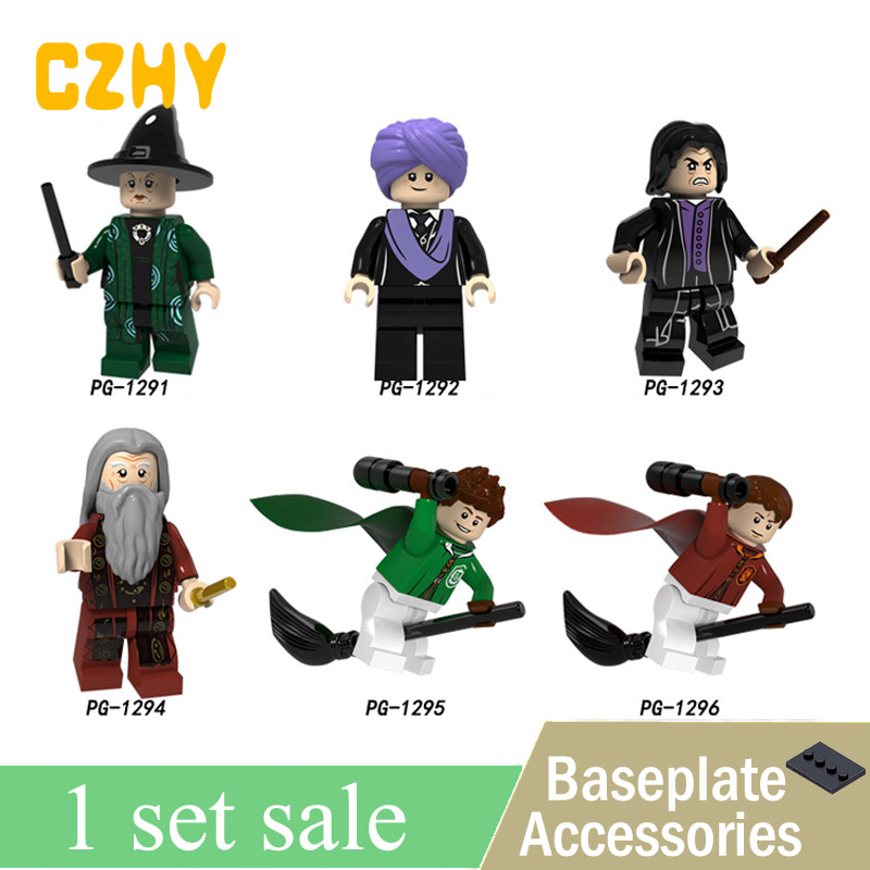 New PG8162 Harry Series Potters Quirinas Chino Professor Snape Olivewood Dumbledore Ron Weasley Building Blocks Gift Toys harry potter ron weasley gregory goyle lucius malfoy argus narcissa professor sprout figures bricks toys for children kl9002