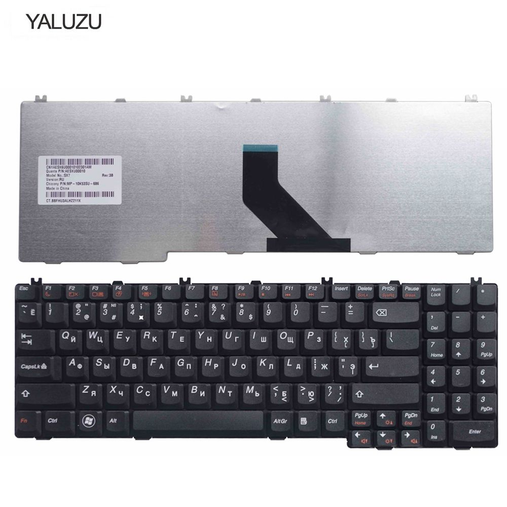 YALUZU New RU Keyboard For Lenovo IdeaPad B550 B560 V560 G550 G550A G550M G550S G555 G555A G555AX Series Black Laptop 25-008405