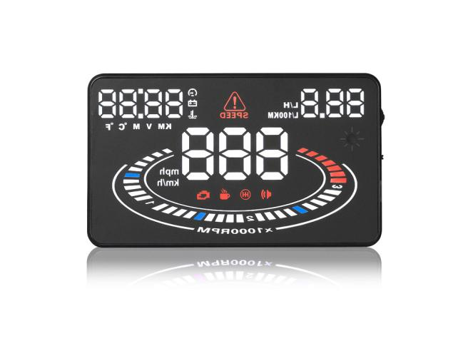ФОТО AUTO  E300 5  Car HUD Head Up Display OBDII OBD Speeding Alarm 2D Reflect Display Dec09