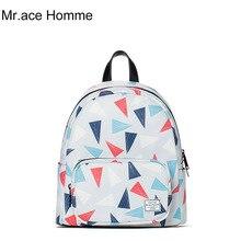 Mr. ace homme женщины мини-рюкзак модные 3D печать рюкзак нейлон школьные сумки для девочек-подростков Back Pack сумка женская