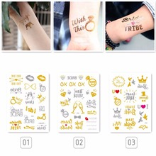 cb6078e50b80a Team Bride Tribe Temporary Tattoo Gold Silver Metallic Arrow Love  Bachelorette party Bridesmaid Shower Wedding Decoration