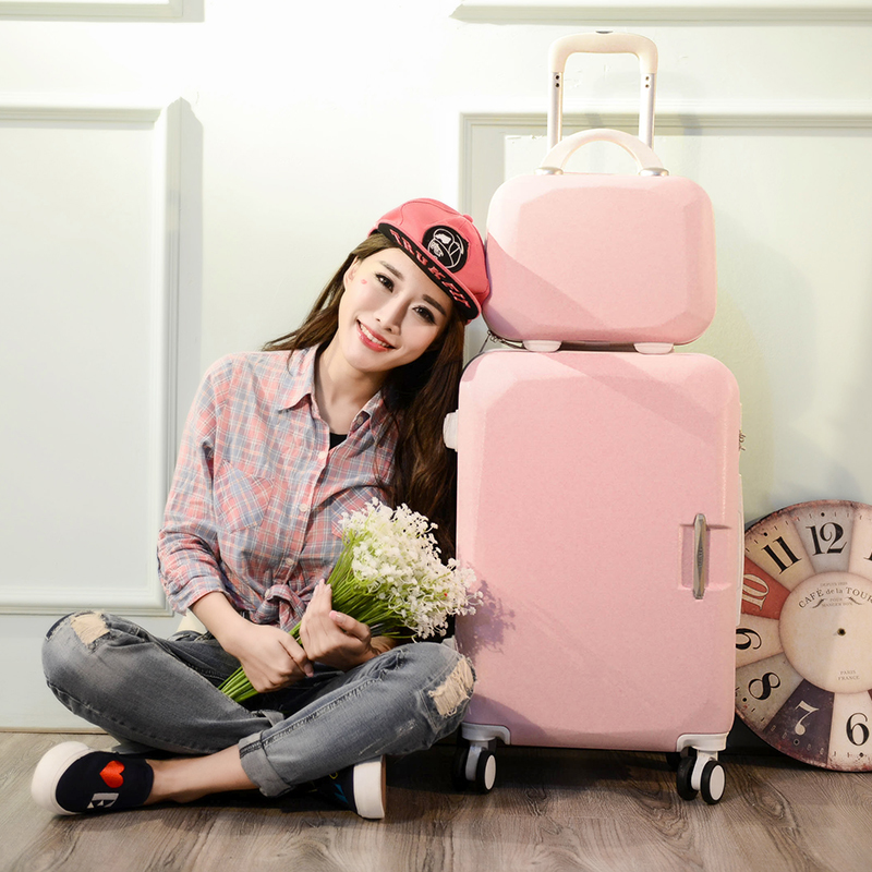 Rolling-Suitcase Handbag Travel-Luggage Boarding-Box Business Girl 24-Inches Abs Pc Lovely