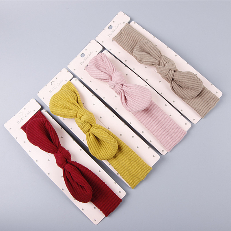 The New Fashion Autumn/winter Rabbit Ears Children's Hair Accessories Baby Hair Band Cotton Comfortable