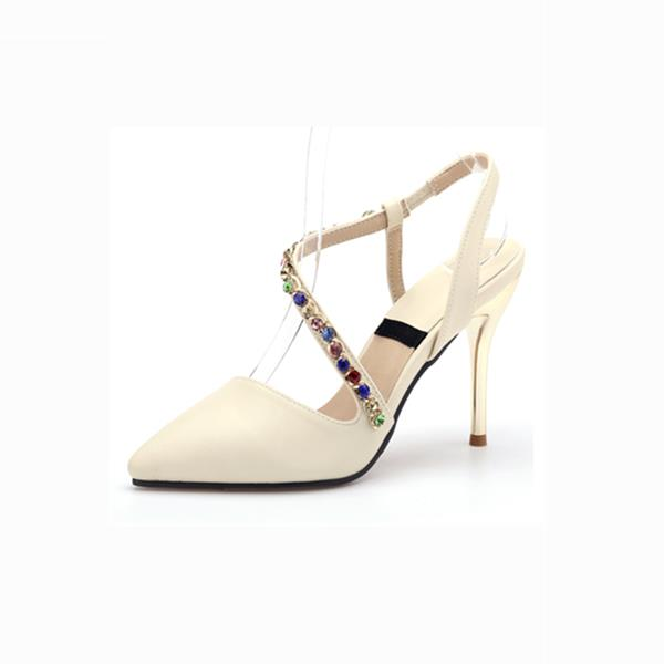 ФОТО Spring high thin heels pointed toe sandals female small 31 32 33 plus size 41 - 43 women's shoes free shipping