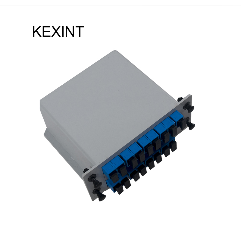 KEXINT PLC Splitter Cassette type 1*16 Insertion /LGX / Fiber Optic PLC Splitter SC/UPC / 10pieces