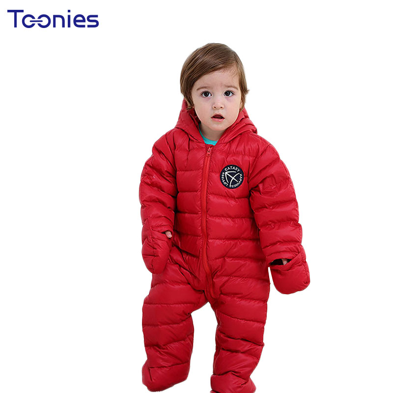 Christmas Baby Clothes 2018 Winter Down Coat Newborn Jumpsuits Boys Girls Rompers Warm Hooded Romper Lovely Badge Climb Clothing cotton baby rompers set newborn clothes baby clothing boys girls cartoon jumpsuits long sleeve overalls coveralls autumn winter