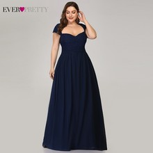 Ever Pretty Elegant Plus Size Mother Of The Bride Dresses Beaded A-Line Sleeveless Navy Blue Mother Dresses Vestido De Madrinha