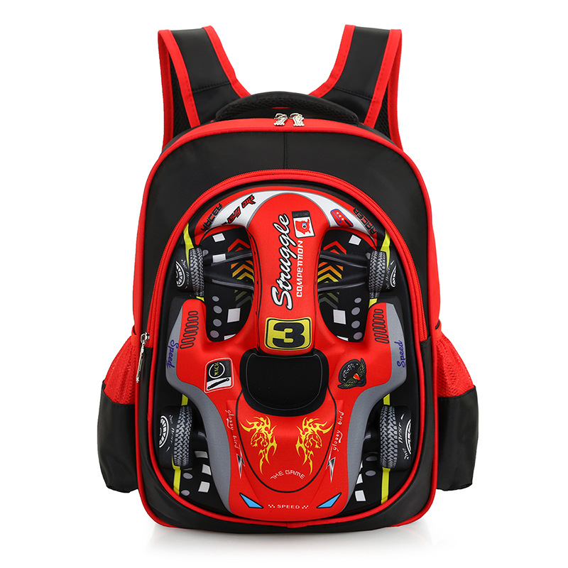Russia Style Cartoon 3D Car styling School Bags For Boy Waterproof Breathable Orthopedic font b Backpacks