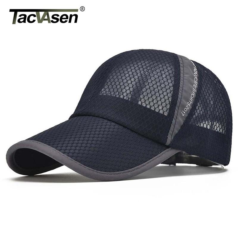 TACVASEN Men's Casual Caps Summer Breathable Mesh Baseball Cap Men Sun Cap UV Protection Women Camp Hats Headwear TD-BDYSM-001