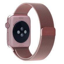 Новый горячая распродажа красная роза Milanese петли с регулируемым магнитный замок часы для Apple , часы 38 мм 42 мм