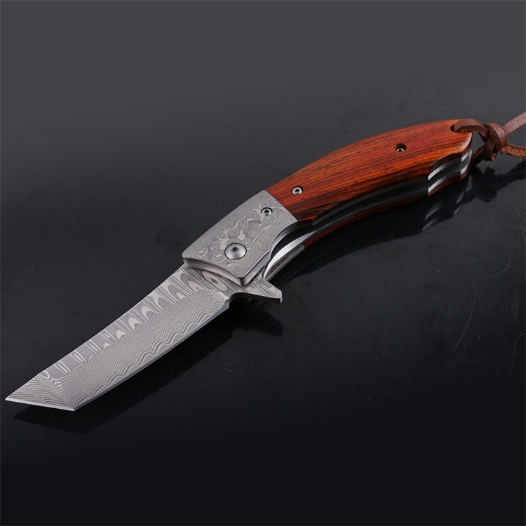 Damascus Folding Knife Sandalwood or Abalone Handle Outdoor Camping Survival Tactical Utility Knives Pocket EDC tool все цены