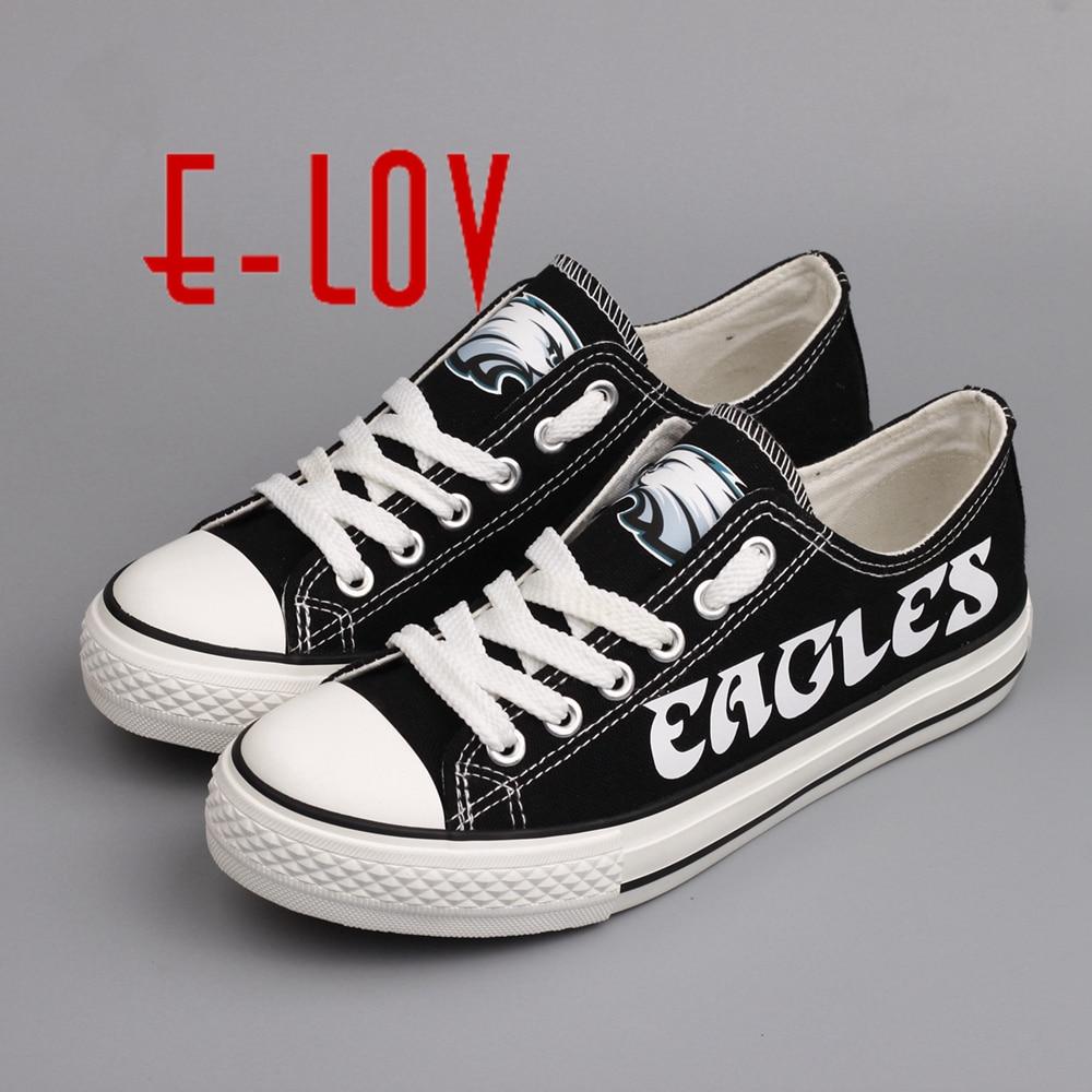 Hot Sale 2017 New Arrived Philadelphia Eagles Canvas Shoe Fashion Fans Customization Shoes Graffiti Casual Shoes For Boys Men