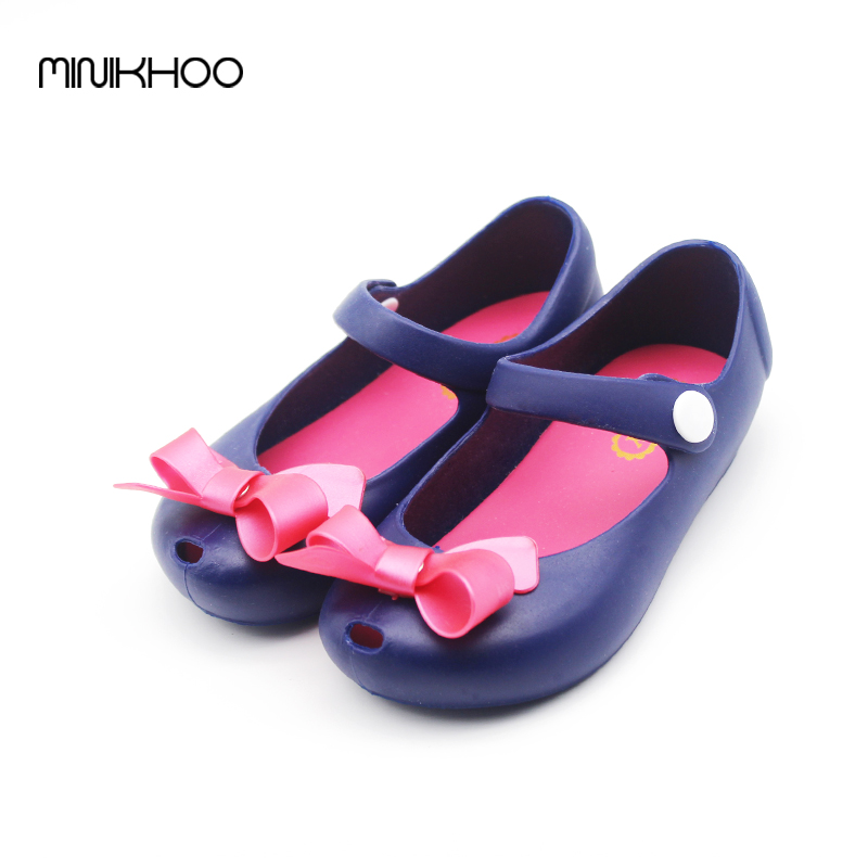 3 Colors Jelly Children Girls Sandals Soft Bottom Fish Head Shoes Kids Shoes