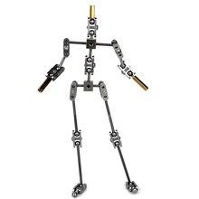 DIY не готовый анимация Студия комплект арматуры для стоп движения Кукольный с различными высотами Скелет человеческого тела