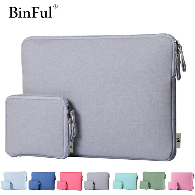 "BinFul Newest Hot Sleeve Case Bag For Macbook Laptop Air, Pro, Retina 11"" 12 13"" 15"" 6 Colors, 14"" Notebook, fashion Laptop bags"