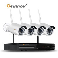 EINNOV CCTV System Wireless 720P NVR 1PCS 2PCS 1 0MP IR Outdoor P2P Wifi IP CCTV