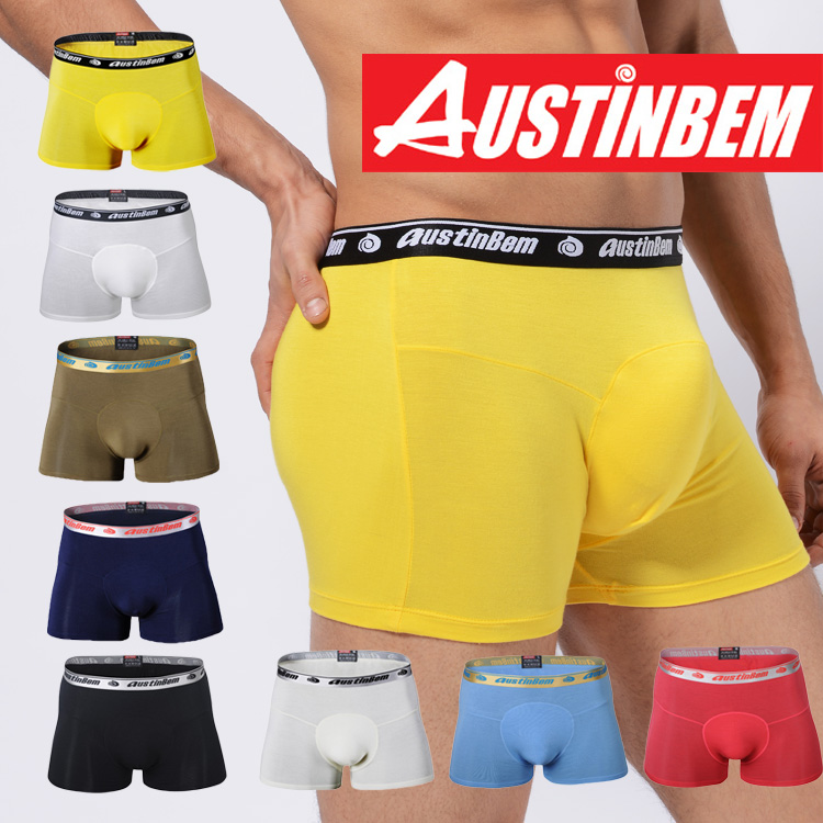 Free shipping!new style brand AUSTINBEM solid boxers fashion underwear men soft modal pants men