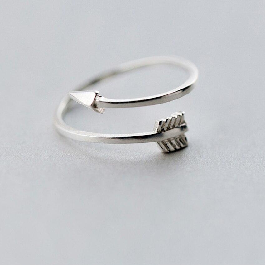QIMING New Arrows Rings Midi fashion Plain Polished Love Arrow Toe Ring For Women Vintage Adjustable Size Gift Men Ring