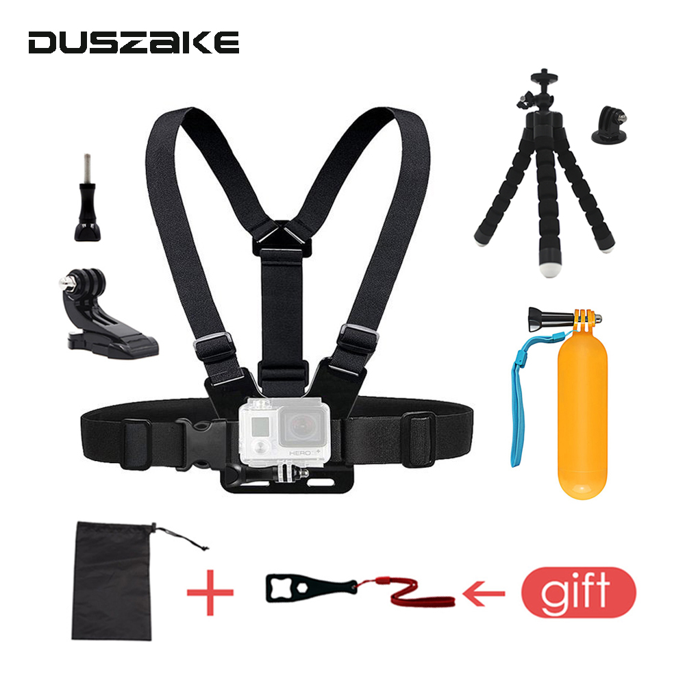 Chest Mount Strap for Gopro Hero 6 5 Accessories J Mount for Yi 4K Chest Belt for Go Pro Float Stickfor Eken SJCAM Action Camera 16in1 gopro accessories set helmet harness chest belt head mount strap monopod for go pro hero 5 4 3 2 1 xiaomi yi action camera