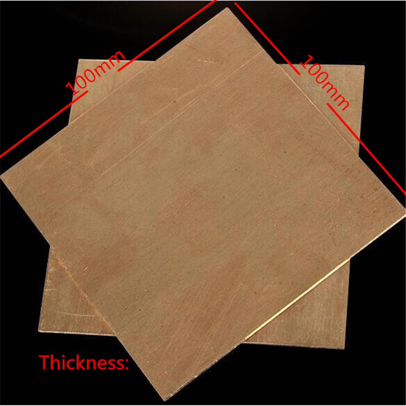 99.9% Copper Cu Metal Sheet Plate Nice Mechanical Behavior and Thermal Stability 100x100x1mm 1pcs