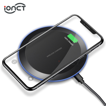 iONCT 5W qi wireless charger for Samsung S8 S9 iPhone 8 X Xs XR Xiaomi Huawei Fast wireless charger for USB Phone Charging Pad