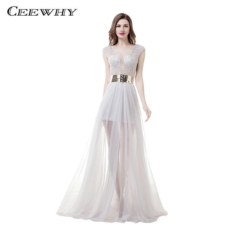 CEEWHY Robe de soirée Courte 2018 robes d'occasion spéciale pour les femmes robes de soirée longue voir si dentelle robes de bal Robe