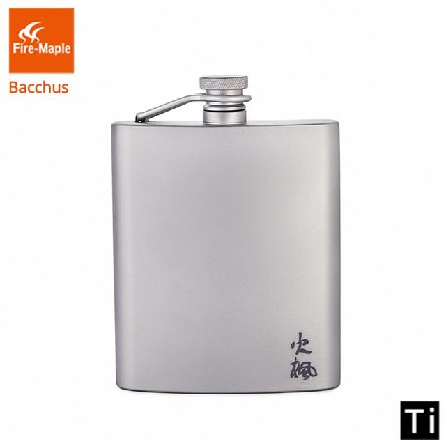 Fogo de bordo titânio hip flask bacchus 200ml 88g drinkware ultraleve escalada caminhadas acampamento ao ar livre uísque flagon
