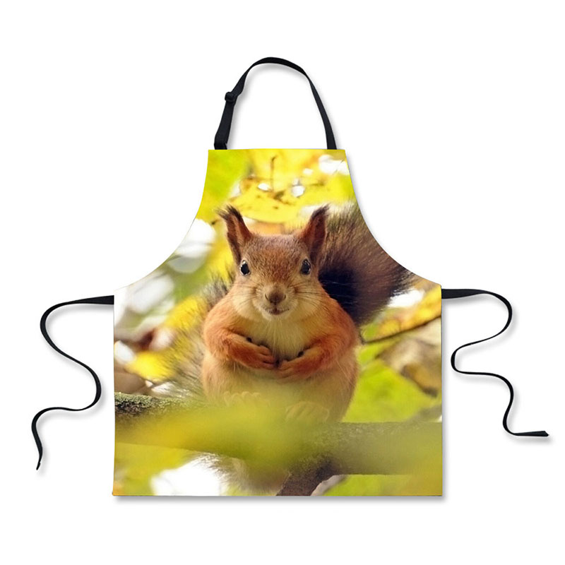 Onvermoeibaar Hoge Kwaliteit Leuke Dier Eekhoorns Patroon Afdrukken Thuis Leisure Mode Keuken Schorten Hoge Veiligheid