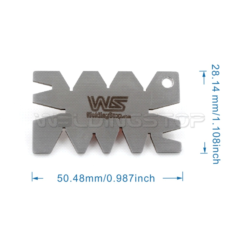 Jauge de jauge d'angle de coupe, outil de mesure, en acier inoxydable filetage