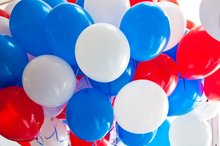 METABLE 100PCS 12 Inch Matte Blue Red And White Balloon Superman Theme Party for Birthday 4th of July USA Patriotic