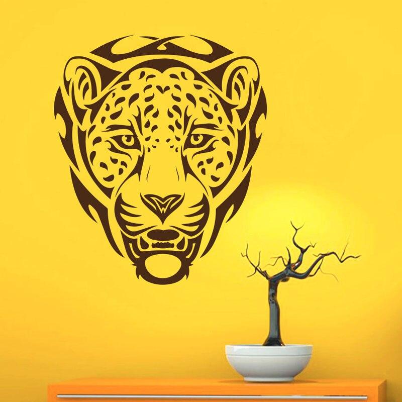 ZooYoo африканских животных леопарды Наклейки на стены ПВХ съемные Настенный декор Книги по искусству наклейка Наклейки украшения дома Клей