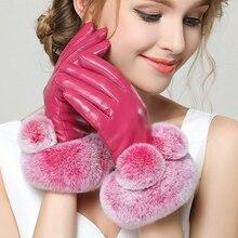 Kleuren Lederen Schapenvacht Handschoen