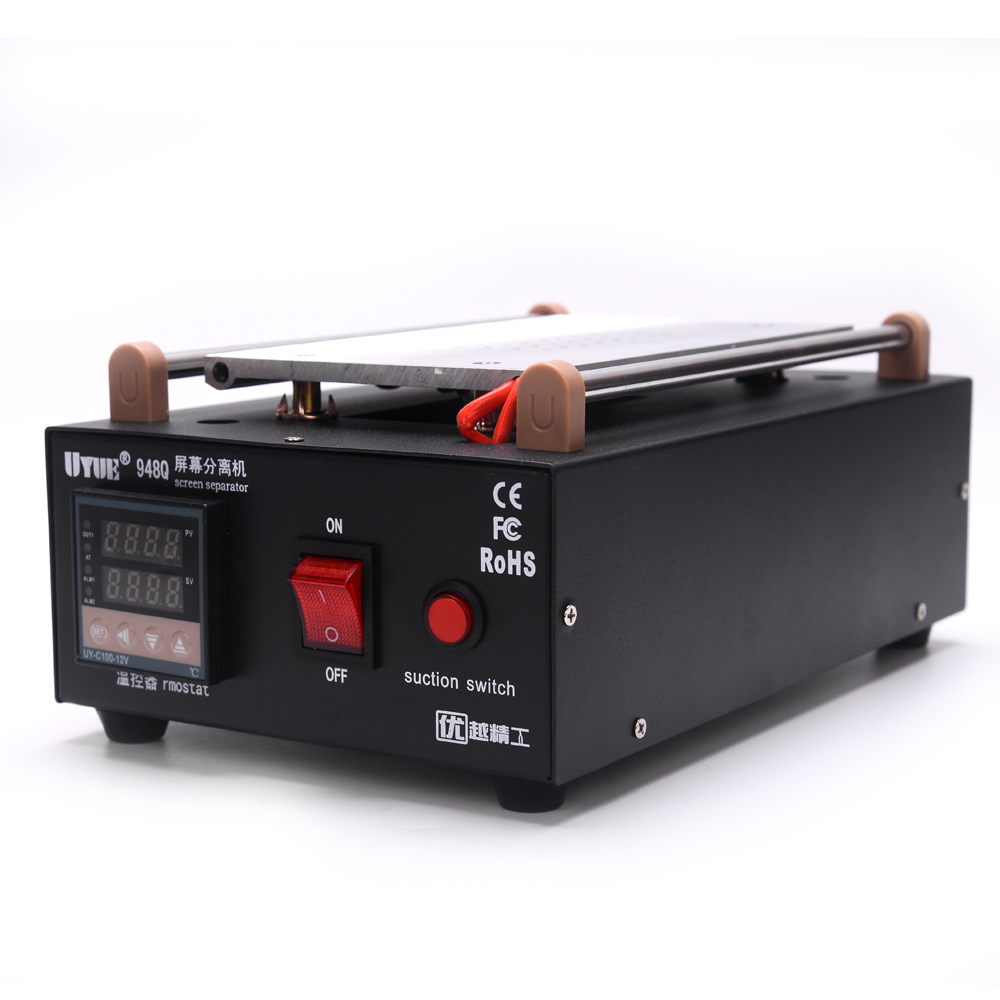 Tools : Uyue 948Q Built-in Pump Vacuum Glass LCD Screen Separator Machine Max 7 inches With 13 Pcs Mobile Phone Disassemble Tool
