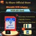 Frete grátis ez compartilhar micro sd adaptador wi-fi sem fio 8g 16g 32G Classe 10 Cartão de Memória TF MicroSD Adaptador Wi-fi cartao de memoria