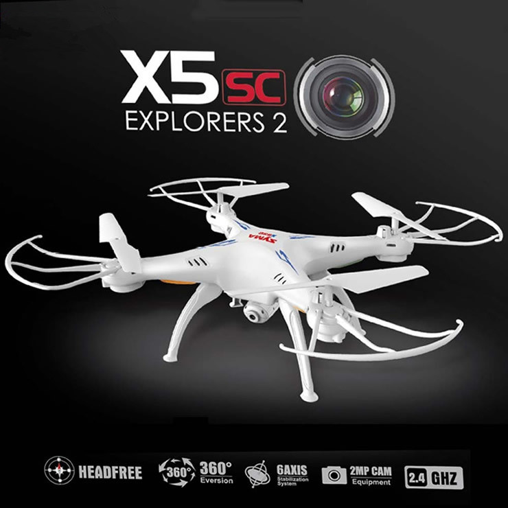 ФОТО New X5SC upgrade version CF mode 2.4G 4CH 6-Axis Professional aerial RC Helicopter Quadcopter Drone Toys  with HD camera