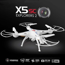 New X5SC improve model CF mode 2.4G 4CH 6-Axis Skilled aerial RC Helicopter Quadcopter Drone Toys with HD digicam