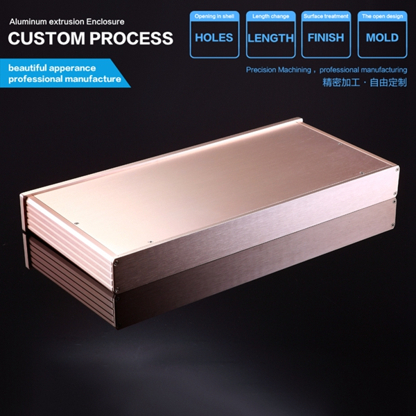 438*45-200mm(WxH-D) aluminum electronic  projects enclosure/amplifier enclosure managing projects made simple