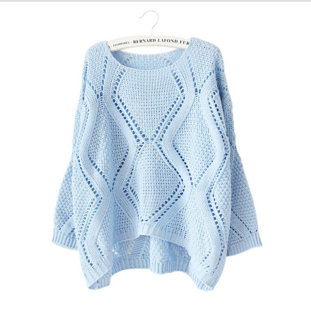 Luxurious New 2016 Spring winter Loose Large Size Fashion Sweet Girls Women Hollow Sweater Wholesale Sweater Girl Elegant Casual