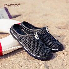 2020Kakaforsa Mens Sandals Summer Soft Sandals Comfortable Men Shoes  Colorful Couples Soft Outdoor Men Mesh Waterproof Sandals