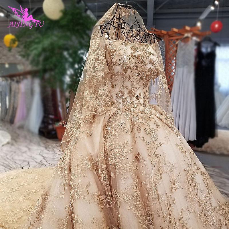 AIJINGYU Wedding Boho Dress Gowns Folk Turkish Brides Stores Surmount Indian Pre Gown Where To Buy Wedding Dresses
