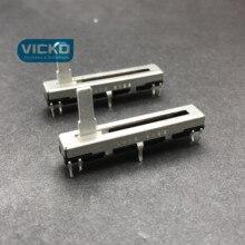 [VK] JAPÃO ORIGINAL 4.5 CENTÍMETROS 45MM B10K único Slide potenciômetro eixo de 15MM 20 pçs/lote MONO interruptor de Slides