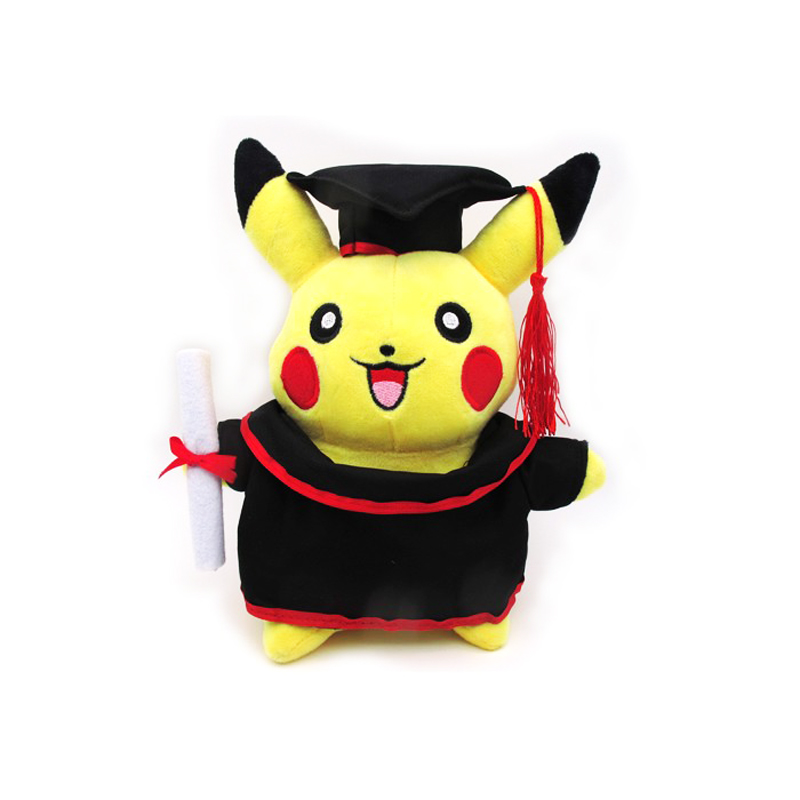 Free Shipping Cute 11 Cartoon Monster Anime Doctor Dress Pikachu 28cm Stuffed Plush Animal Soft Toy Figure Doll Toys Gift